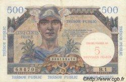 5 NF sur 500 Francs TRÉSOR PUBLIC FRANCE  1960 VF.37.01 TTB+
