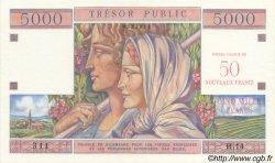 50 NF sur 5000 Francs TRÉSOR PUBLIC FRANCE  1960 VF.39.01 SPL+