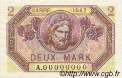 2 Mark SARRE FRANCE  1947 VF.45.02 pr.NEUF