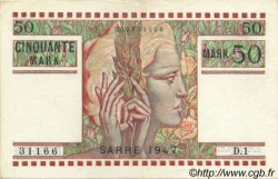 50 Mark SARRE FRANCE  1947 VF.48.01 pr.SPL