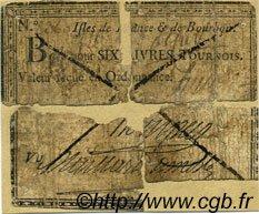 6 Livres Tournois Maillart du Mesle ISLES DE FRANCE ET BOURBON  1772 P.01var AB