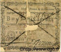 6 Livres Tournois Foucault ISLES DE FRANCE ET BOURBON  1778 P.01var AB