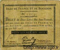 2 Livres 10 Sous ISLES DE FRANCE ET BOURBON  1788 P.06 TTB