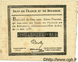 500 Livres ISLES DE FRANCE ET BOURBON  1788 P.12x SUP