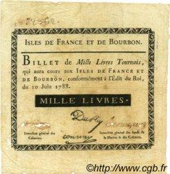 1000 Livres ISLES DE FRANCE ET BOURBON  1788 P.13 pr.TTB