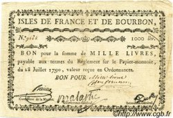 1000 Livres ISLES DE FRANCE ET BOURBON  1790 P.22a TB+