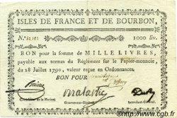 1000 Livres ISLES DE FRANCE ET BOURBON  1790 P.23 TTB+