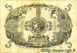 5 Francs ÎLE DE LA RÉUNION  1916 P.14 TTB