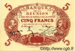 5 Francs ÎLE DE LA RÉUNION  1916 P.14 SUP+
