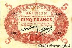5 Francs ÎLE DE LA RÉUNION  1944 P.14 SUP