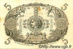 5 Francs Cabasson rouge ÎLE DE LA RÉUNION  1944 P.14 SUP