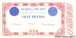 100 Francs ÎLE DE LA RÉUNION  1900 P.16 NEUF
