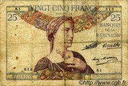 25 Francs ÎLE DE LA RÉUNION  1930 P.23 B+
