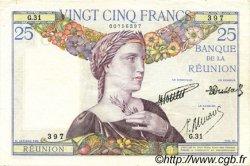25 Francs ÎLE DE LA RÉUNION  1940 P.23 TTB+ à SUP