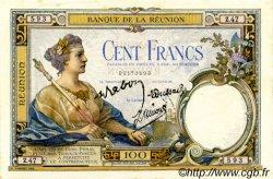 100 Francs ÎLE DE LA RÉUNION  1944 P.24 pr.SPL