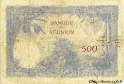 500 Francs ÎLE DE LA RÉUNION  1930 P.25 TB