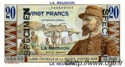 20 Francs Émile Gentil ÎLE DE LA RÉUNION  1946 P.43s NEUF