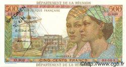 500 Francs Pointe à Pitre ÎLE DE LA RÉUNION  1964 P.51s NEUF