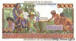 5000 Francs Schoelcher ÎLE DE LA RÉUNION  1964 P.53s NEUF