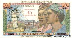 10 NF sur 500 Francs Pointe à Pitre ÎLE DE LA RÉUNION  1967 P.54s pr.NEUF