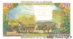 10 NF sur 500 Francs Pointe à Pitre ÎLE DE LA RÉUNION  1967 P.54a SUP+