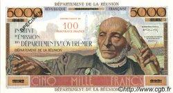 100 NF sur 5000 Francs Schoelcher ÎLE DE LA RÉUNION  1967 P.56s SPL