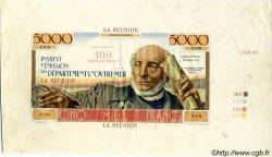 100 NF sur 5000 Francs Schoelcher ÎLE DE LA RÉUNION  1960 P.56s.var SUP