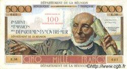 100 NF sur 5000 Francs Schoelcher ÎLE DE LA RÉUNION  1971 P.56b TTB+