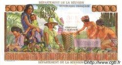 100 NF sur 5000 Francs Schoelcher ÎLE DE LA RÉUNION  1971 P.56b pr.NEUF