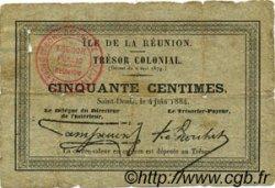 50 Centimes ÎLE DE LA RÉUNION  1884 P.05 TB