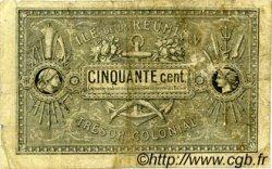 50 Centimes ÎLE DE LA RÉUNION  1879 K.456 B+