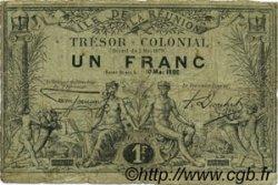 1 Franc ÎLE DE LA RÉUNION  1886 P.09 B+