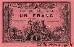 1 Franc ÎLE DE LA RÉUNION  1886 P.09var SUP+