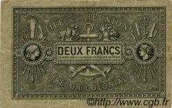 2 Francs ÎLE DE LA RÉUNION  1886 P.10 TB+