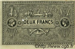 2 Francs ÎLE DE LA RÉUNION  1886 P.10 SUP+