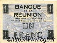 1 Franc Croix de Lorraine ÎLE DE LA RÉUNION  1943 P.34 NEUF