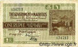 1 Rupee ÎLE MAURICE  1919 P.19 TTB