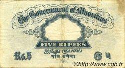 5 Rupees ÎLE MAURICE  1930 P.20 TTB