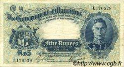 5 Rupees ÎLE MAURICE  1937 P.22 TTB+