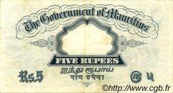 5 Rupees ÎLE MAURICE  1937 P.22 TTB