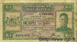 1 Rupee ÎLE MAURICE  1940 P.26 pr.TTB