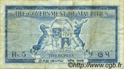 5 Rupees ÎLE MAURICE  1954 P.27 pr.TTB