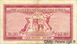 10 Rupees ÎLE MAURICE  1954 P.28 TTB