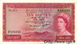 10 Rupees ÎLE MAURICE  1954 P.28 SUP+