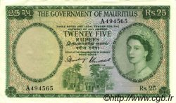 25 Rupees ÎLE MAURICE  1954 P.29 SUP