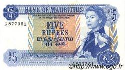 5 Rupees ÎLE MAURICE  1970 P.30b SUP à SPL