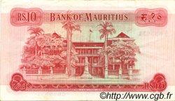 10 Rupees ÎLE MAURICE  1967 P.31b TTB+
