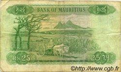25 Rupees ÎLE MAURICE  1973 P.32c TB