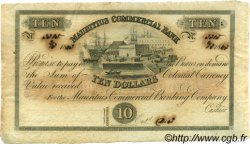 10 Dollars - 2 Pounds ÎLE MAURICE  1843 PS.122r SUP