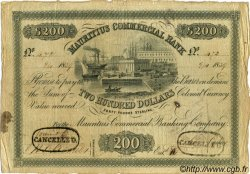 200 Dollars - 40 Pounds Sterling ÎLE MAURICE  1839 PS.128 TB